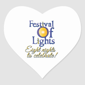 Eight Nights Heart Sticker