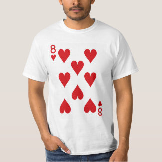 Eight of Hearts Playing Card T-Shirt