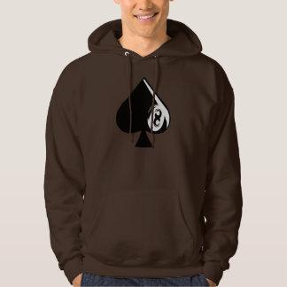 Eight of Spades Hooded Sweatshirts
