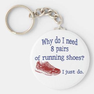 Eight Pairs Running Shoes Keychain
