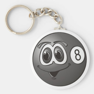 Eight Pool Ball Cartoon Keychain