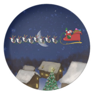 Eight Tiny Penguins Party Plate
