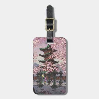 Eight Views Of Tokyo Ueno Toshogu Shrine Kasamatsu Bag Tag