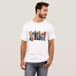 Eightball Dimensional Logo, Mens White T-shirt. T-Shirt