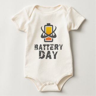 Eighteenth February - Battery Day Baby Bodysuit