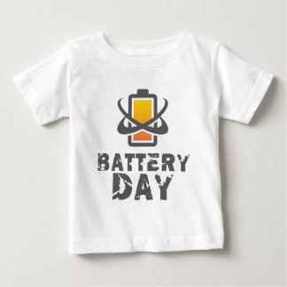 Eighteenth February - Battery Day Baby T-Shirt
