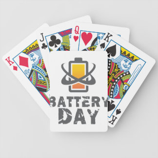 Eighteenth February - Battery Day Bicycle Playing Cards