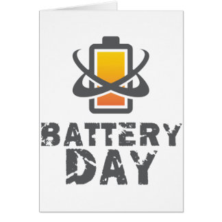 Eighteenth February - Battery Day Card