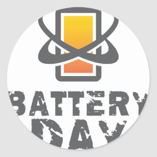 Eighteenth February - Battery Day Classic Round Sticker