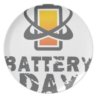 Eighteenth February - Battery Day Dinner Plates