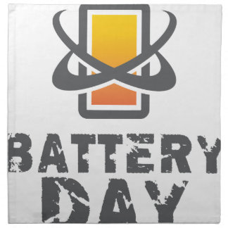 Eighteenth February - Battery Day Napkin