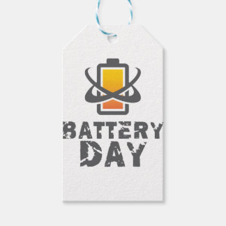 Eighteenth February - Battery Day Pack Of Gift Tags