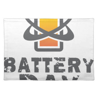 Eighteenth February - Battery Day Placemat