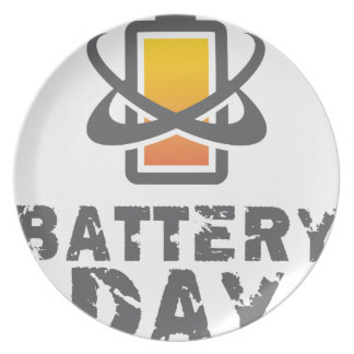 Eighteenth February - Battery Day Plate