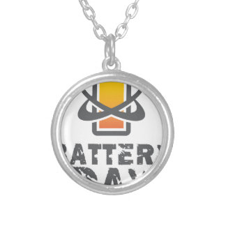 Eighteenth February - Battery Day Silver Plated Necklace