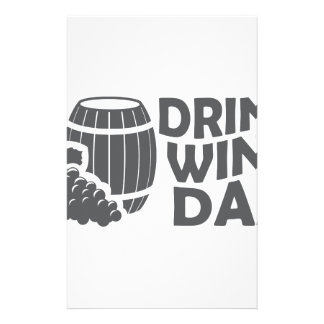 Eighteenth February - Drink Wine Day Stationery