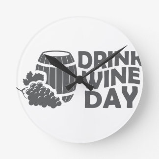 Eighteenth February - Drink Wine Day Wall Clocks