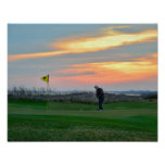 Eighteenth Hole at Sunset on Kiawah Island Poster