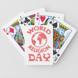 Eighteenth January - World Religion Day Bicycle Playing Cards