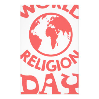 Eighteenth January - World Religion Day Customized Stationery