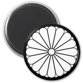 Eightfold 16 chrysanthemum 2 inch round magnet
