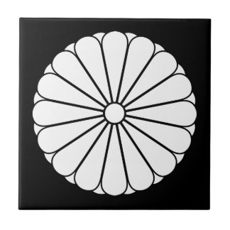 Eightfold 16 chrysanthemum ceramic tiles