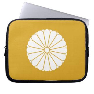 Eightfold 16 chrysanthemum laptop computer sleeve