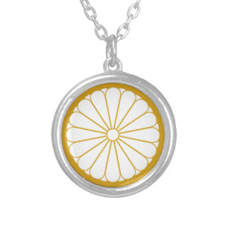 Eightfold 16 chrysanthemum silver plated necklace