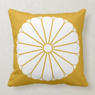 Eightfold 16 chrysanthemum throw pillow