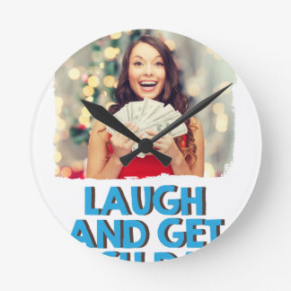 Eighth February - Laugh And Get Rich Day Wall Clock