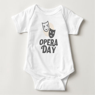 Eighth February - Opera Day - Appreciation Day Baby Bodysuit