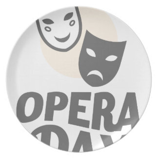 Eighth February - Opera Day - Appreciation Day Plate