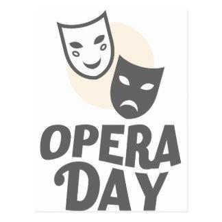 Eighth February - Opera Day - Appreciation Day Postcard