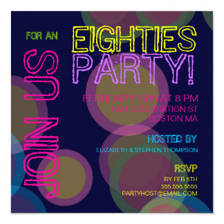Eighties Party! Invitation