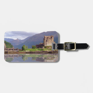Eilean Donan castle reflection Luggage Tag