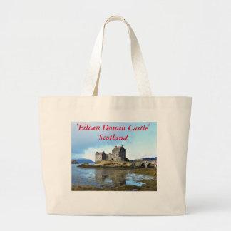 'Eilean Donan Castle' - Scotland Large Tote Bag