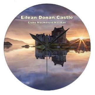 Eilean Donan – MacKenzie/MacRae Large Clock