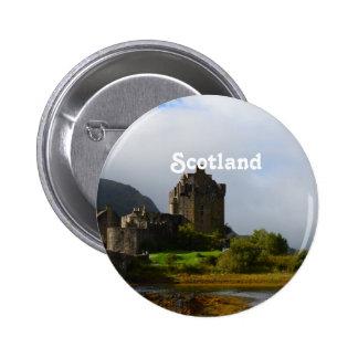Eileen Donan Castle in Early Autumn 2 Inch Round Button
