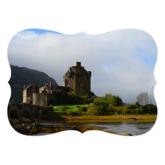 "Eileen Donan Castle in Early Autumn 5"" X 7"" Invitation Card"