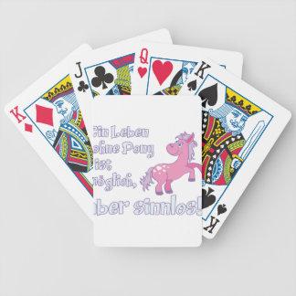 ein leben ohne pony ist möglich aber sinnlos bicycle playing cards