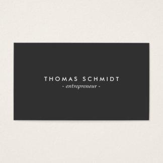 Einfache Minimalist Schwarz Moderne berufliche Business Card