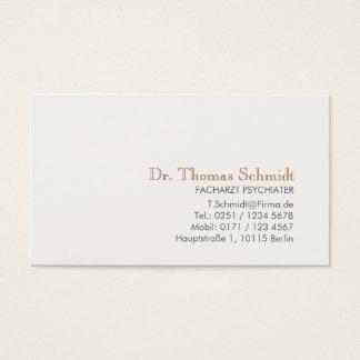 Einfache und elegante berufliche Psychiater Business Card