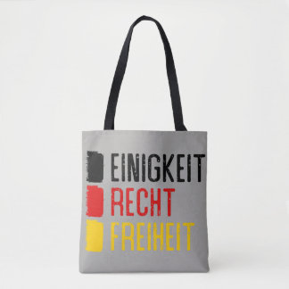Einigkeit Recht Freiheit Bag, German Motto Tote Bag