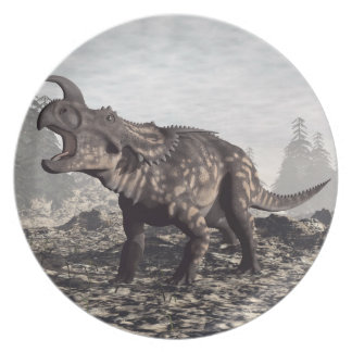 Einiosaurus dinosaur - 3D render Party Plates