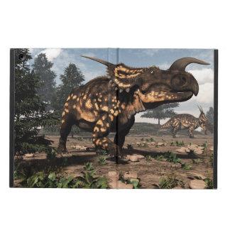 Einiosaurus dinosaurs in the desert - 3D render Cover For iPad Air