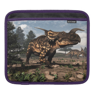 Einiosaurus dinosaurs in the desert - 3D render iPad Sleeve