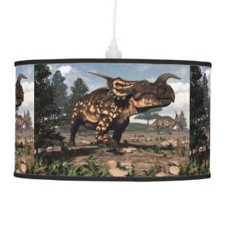 Einiosaurus dinosaurs in the desert - 3D render Pendant Lamp