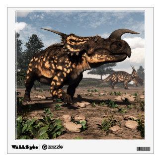 Einiosaurus dinosaurs in the desert - 3D render Wall Sticker