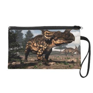 Einiosaurus dinosaurs in the desert - 3D render Wristlet