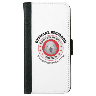 Einstein Parrot African Grey Parrot Fan Club Logo iPhone 6 Wallet Case
